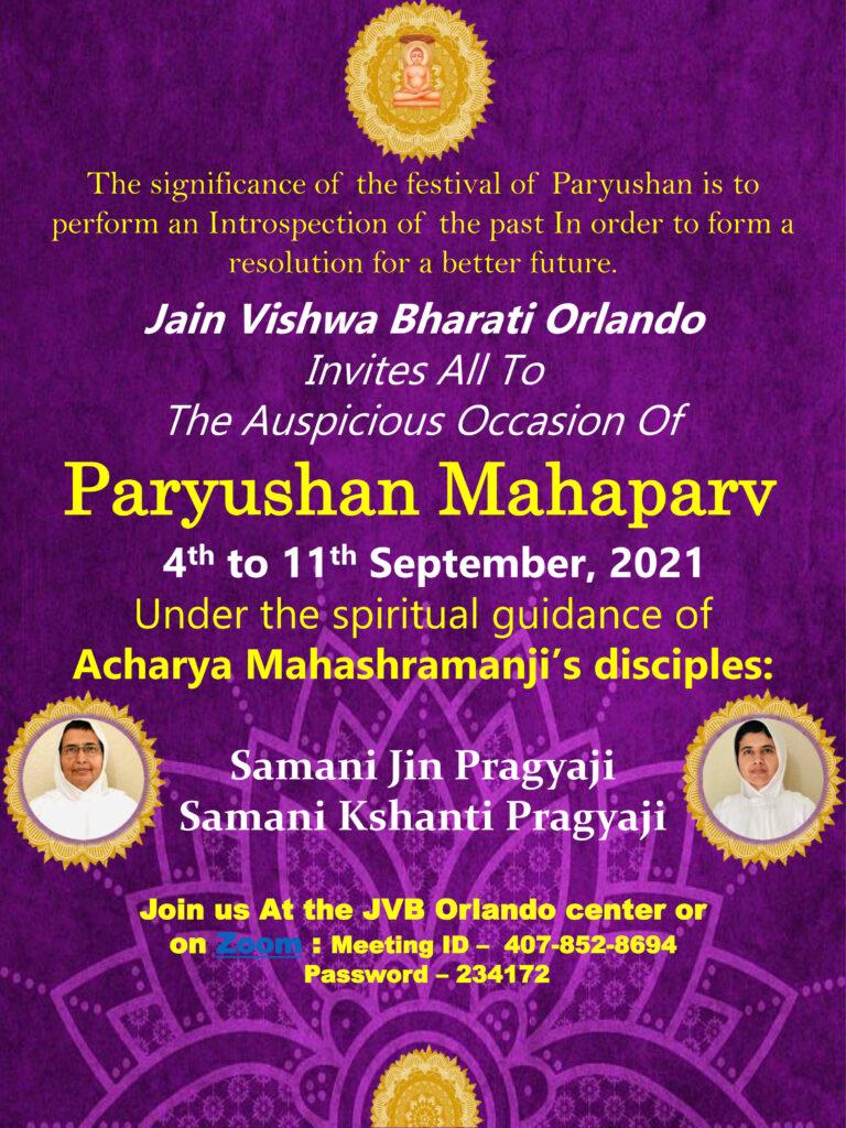 Paryushan 2021 JVB Orlando